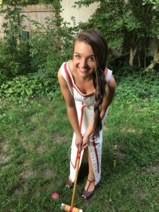 Sarah Moliski wearing vintage summer frock