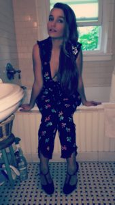 Sarah Moliski wearing Betsey Johnson PJ's.